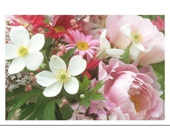 Summer Flowers Photo Card,  Mother's Day Card, Floral Greeting Card