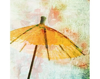 Nursery Decor,  Orange Paper Umbrella, Tangerine Asian Art