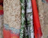 VINTAGE SARONG INDIAN SILK WRAP SKIRT\/DRESS