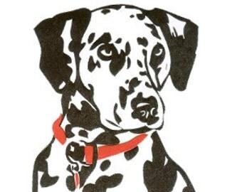 Dalmatian - Set of 5 Letterpressed Notecards