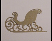 Golden Filigree Sleigh Die Cut