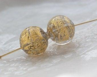 Venetian Murano Round Glass Beads