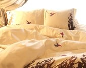 Hummingbirds King Duvet Cover