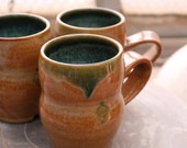 Nutmeg and Forest Green Mugs
