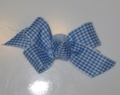 SoBella Creations Blue Gingham Bow