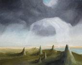 The Folding Field (original oil painting)