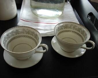 Two Wako Tea Cups and Saucers