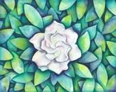 Gardenia Blossom...(MATTED)
