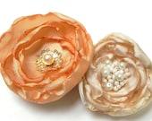 Bridal Flower Hair Pins - Vintage Gold Champagne Cream Ivory White - SALE - Set of 2