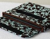 Aqua and Chocolate Kindle Case