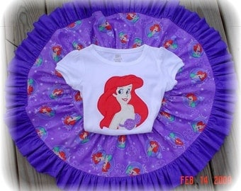Custom Princess Twirl Skirt and Shirt  2-6