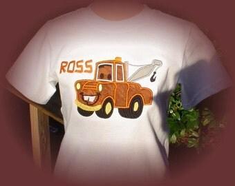 CARS  Custom Mater   Applique Boys Shirt