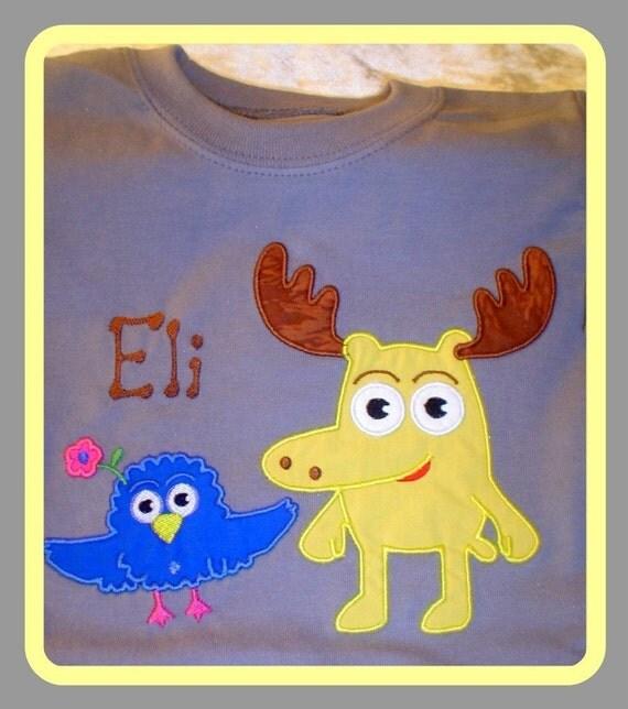 Custom Applique Moose And Zee