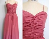 Vintage 1970s Pink Evening Bolero and Dress Set