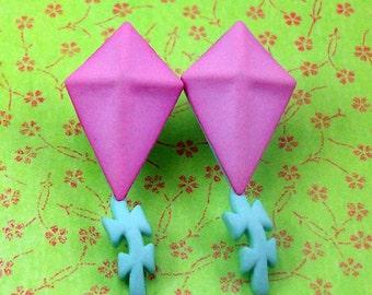 Pink Kite Earrings