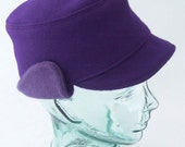 Purple Wool Ear Flap Hat : Womens Hats - Lola - L