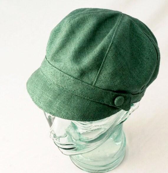 Green Blue Silk Newsboy Hat : Womens, Girls Hats - Janis - L