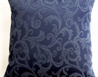 Dark Blue Pillow Cover -- Navy Blue Throw Pillow Cushion Cover -- 16 x 16