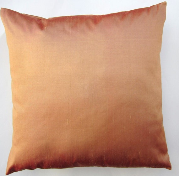 Light Rust Throw Pillow Cover - Simply Silk Cushion Cover - 16 x 16