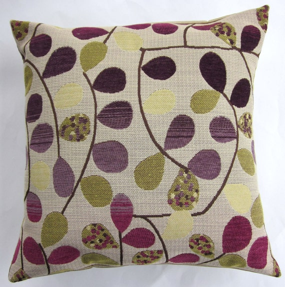 Gold and Purple Throw Pillow Cover -- Pots of Gold and Purple Cushion Cover - 16 x 16