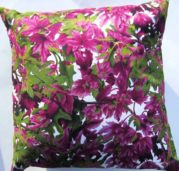 Purple Green Throw Pillow : Purple and Green Throw Pillow Cover Magenta and Eggplant
