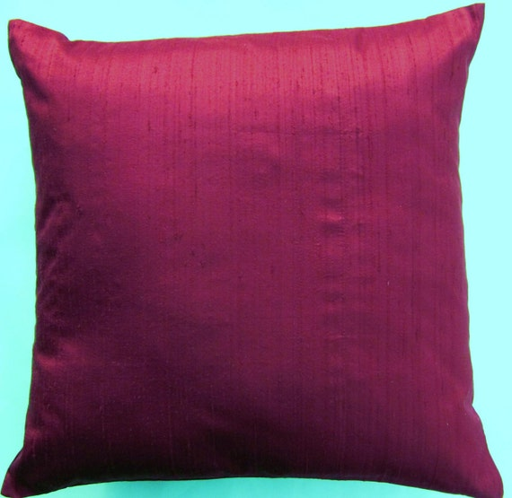 Red Silk Decorative Pillows : Unavailable Listing on Etsy
