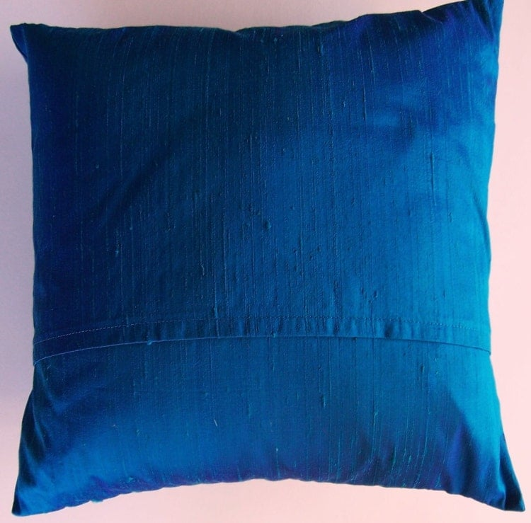 Royal Blue Silk Throw Pillow Cover Iridescent by sassypillows