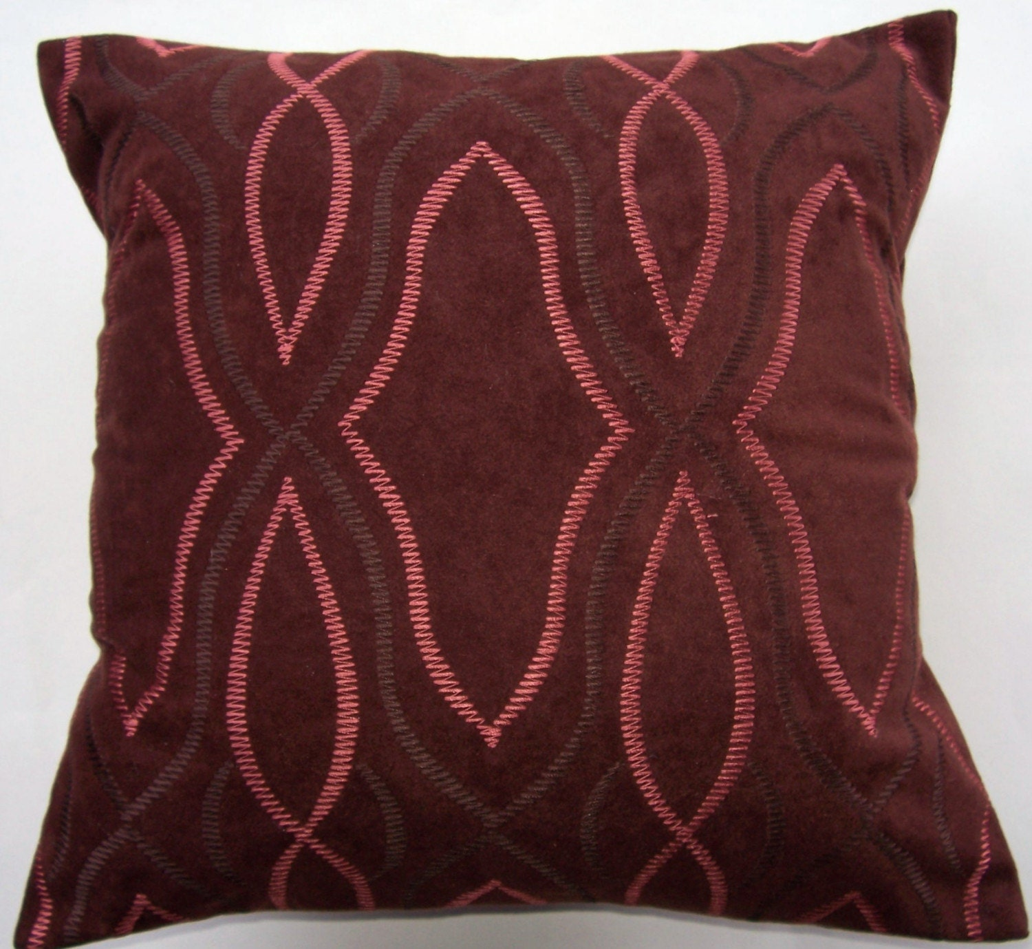 Throw Pillow Rust : Brown and Rust Throw Pillow Chocolate Suedecloth Cushion