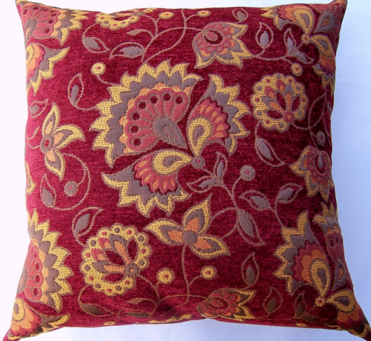 brick red throw pillow cover red brown and rust cushion. Black Bedroom Furniture Sets. Home Design Ideas