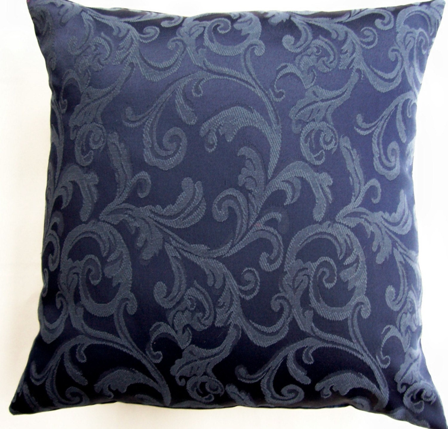 Dark Blue Throw Pillow Cover Navy Decorative by sassypillows