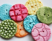 Colorful - Handmade Polymer Clay Buttons (8)