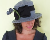 Organic Mary, Grey, Cotton and Hemp Jersey Packable Hat