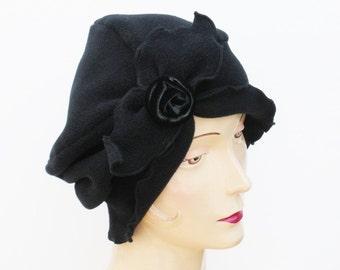 Matta Hari, Black, fleece turban