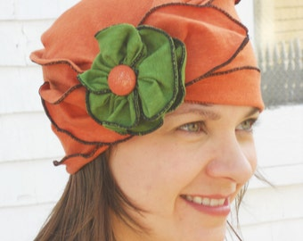 Summer Brooke, Organic Cotton and Hemp Jersey Turban, Terracotta