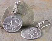 Handcrafted Sterling Silver Circle Earrings