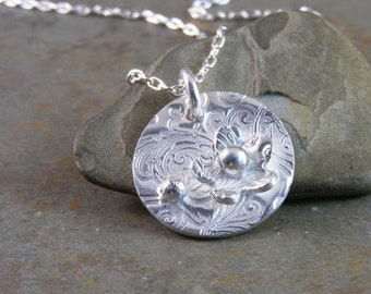 Tiny Posy Handcrafted Fine Silver Necklace