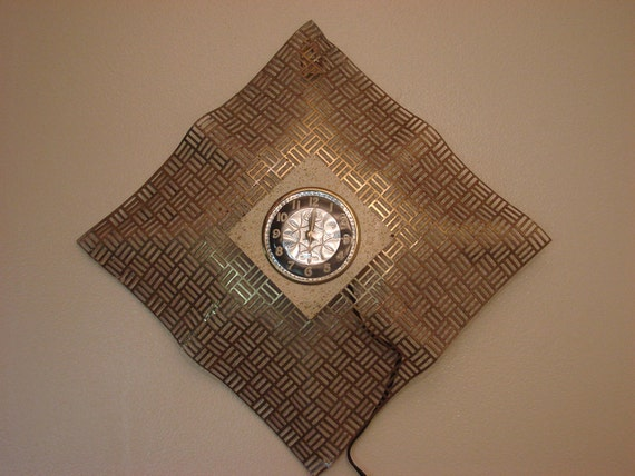 Custom Order for: Msmichiganroux - Vintage Eames Era Electric Wall Clock & Taxidermy Alligator