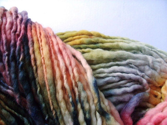 custom dyed wool handspun yarn .. 100 mtr or 110 yds mega bulky .. CUSTOM dyed to order