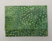 Mini wallet - green batik dot