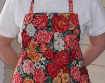 Roses reversible adult size apron