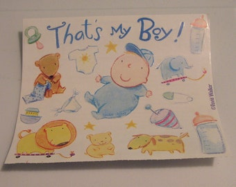 Roll of Baby boy scrapbooking stickers - That's my boy - rest of the roll