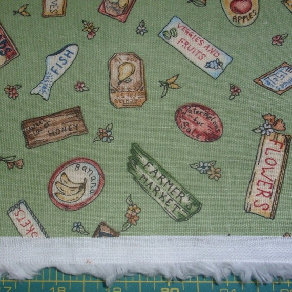 Farmers Market Fabric - 1 yard by 58 inches wide