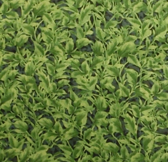 Green leaves fabric - 2 yards