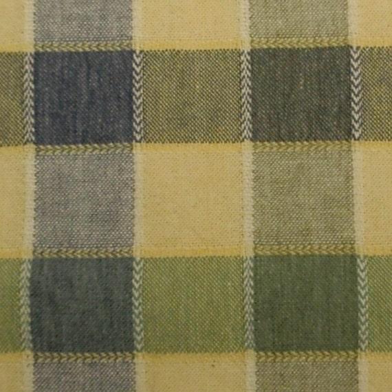 Checkerboard fabric - blue green yellow