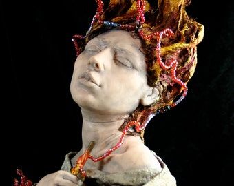 Joan of Arc Sculpture, OOAK Sarah Pierzchala