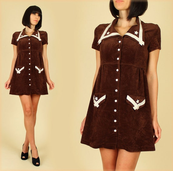 ViNtAgE 60's Military Stars Empire MoD MiNi Scooter Dress