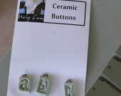 Ceramic Buttons ABC