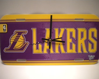 L.A. Lakers........License Plate Clock