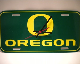 Oregon Ducks.....License Plate Clock