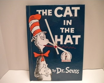 Dr Seuss The Cat in the Hat Book Clock